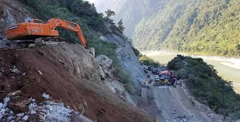 नारायणगढ-मुग्लिन सडकखण्ड अवरुद्ध