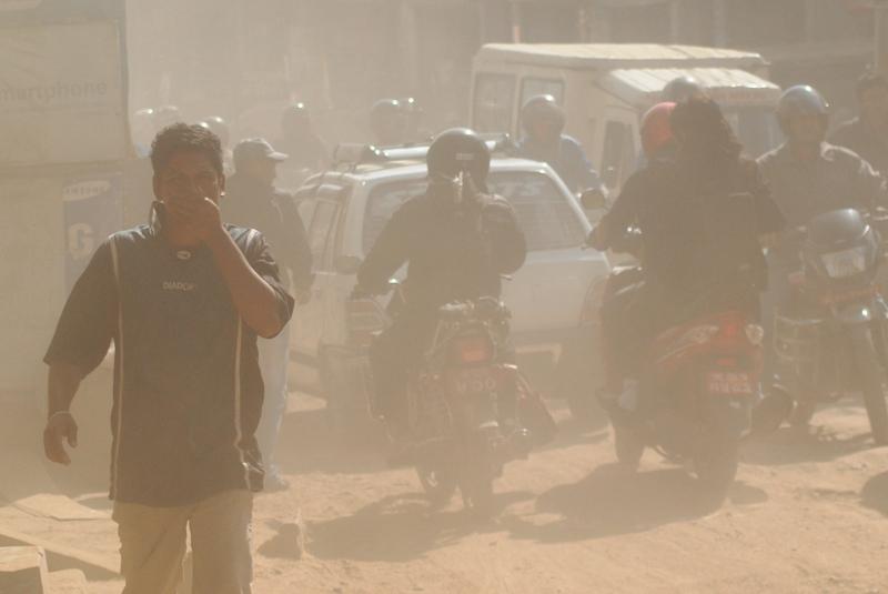 वायु प्रदूषण मापन मेसिन जडान