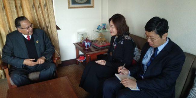 नेकपा वरिष्ठ नेता खनाल र चिनियाँ राजदूतबीच भेटवार्ता
