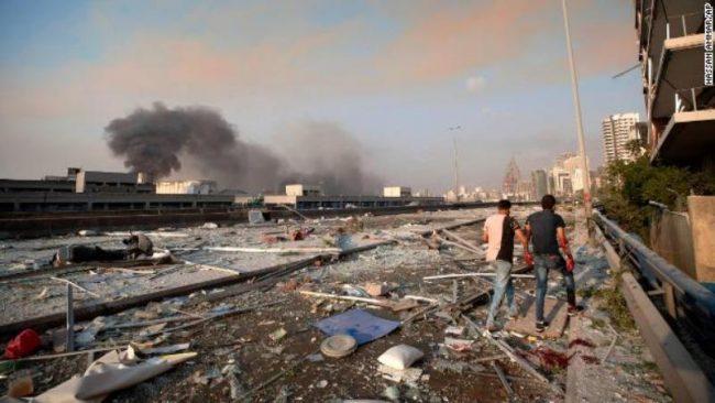 लेबननको राजधानीमा भएको ठूलो विस्फोटनमा कम्तीमा ७० को मृत्यु, चार हजार भन्दा धेरै घाइते