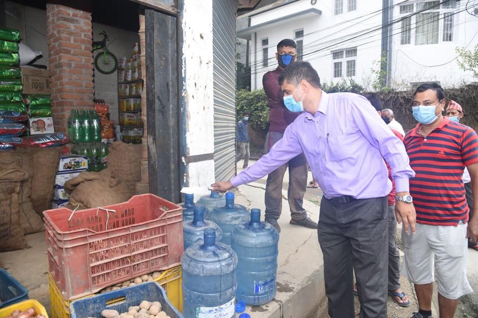 बजार अनुगमन : पानीका जार, ट्याङ र स्यानिटरी प्याड नष्ट