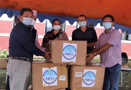 एनआरएनएद्वारा गण्डकी प्रदेशलाई मास्क सहयोग