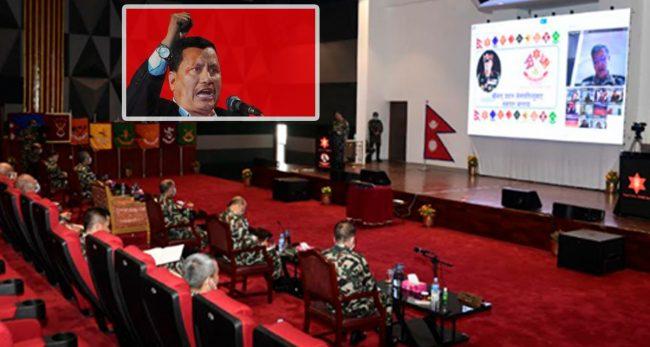 सेनाको पृतनापति सम्मेलनमा विप्लवको चर्चाः नियन्त्रणका लागि विशेष रणनीतिक बनाउन निर्देशन