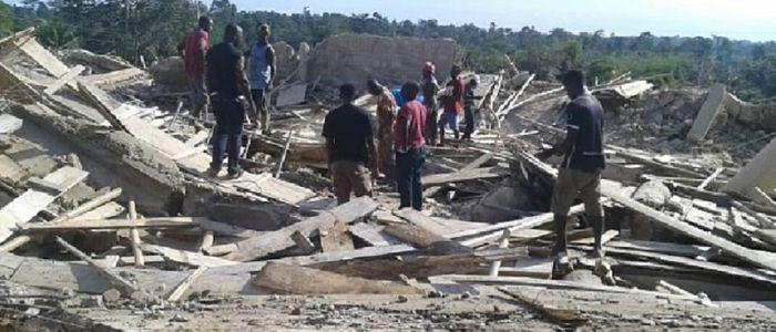 घानामा चर्च भवन भत्किँदा २२ जनाको मृत्यु