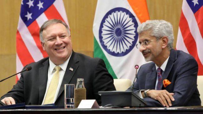 अमेरिकी विदेश मन्त्री पोम्पेओ भारत भ्रमणमा
