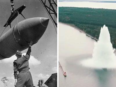 दोस्रो विश्वयुद्धमा खसाइएको तर नपड्किएको साढे ५ हजार किलोको बम अहिले पड्कियो