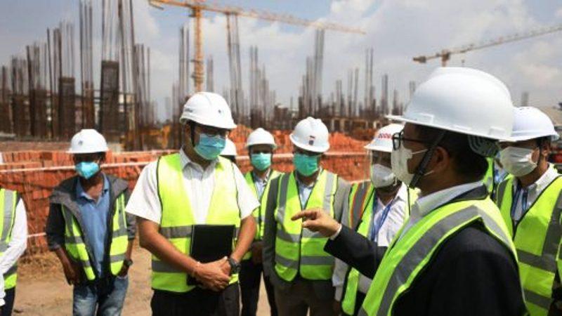 अध्यक्ष तिमिल्सिनाद्वारा निर्माणाधीन सङ्घीय संसद्को भवन निरीक्षण