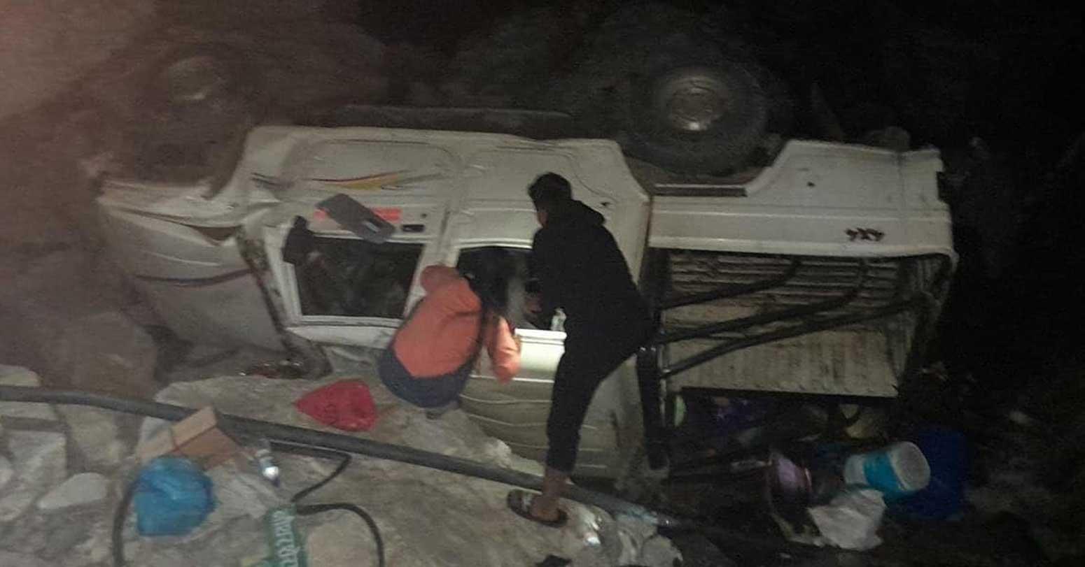 लमजुङमा जीप दुर्घटनामा एकको मृत्यु, ११ घाइते
