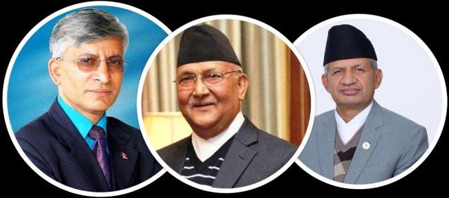 नेकपा विवादः प्रदीप ज्ञवालीसहितको टिम ओलीलाई 'जवाफी प्रस्ताव' लेखनमा सघाउँदै