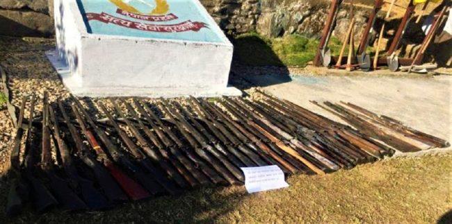 बागलुङमा ३८ थान अवैध भरुवा बन्दुक बरामद
