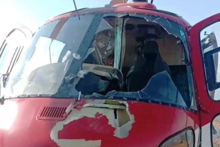 हेलिकोप्टरमा चरा ठोक्किएपछि आकस्मिक अवतरण, यात्रु सबै सुरक्षित