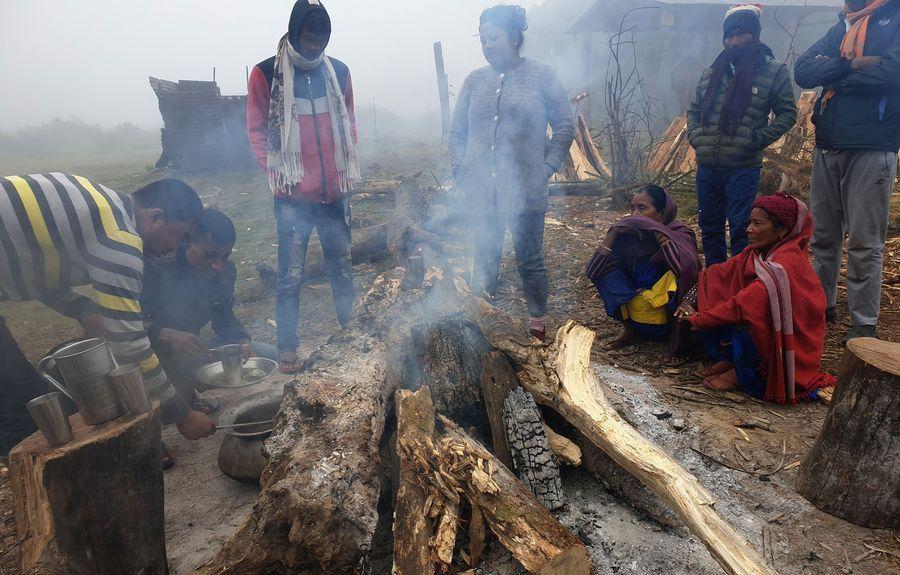 चिसो तथा शीतलहर : दलित मुसहर बस्ती प्रभावित