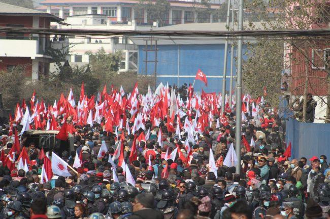 प्रचण्ड-नेपाल समूहको शक्ति प्रदर्शन