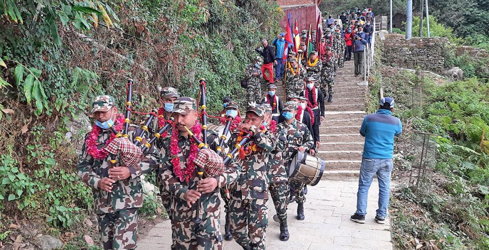 गोरखा–काठमाडौं एकीकरण मार्ग पदयात्रा आइतबार हनुमानढोका आइपुग्दै
