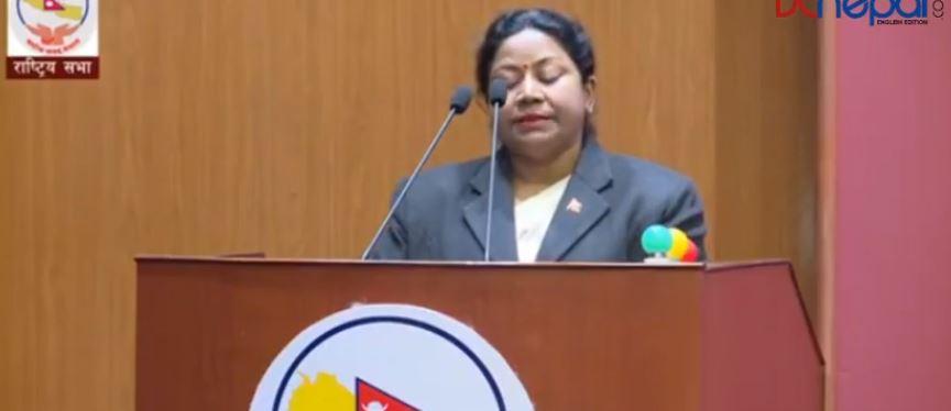 राष्ट्रिय सभा बैठकः राष्ट्रपति भण्डारीका कारण महिलाहरु अपहेलित भएको आरोप