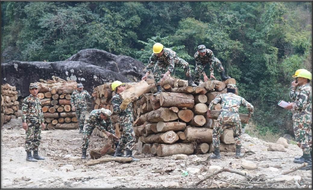 द्रूतमार्गमा नेपाली सेनाको कार्य प्रगति (फोटो फिचर)