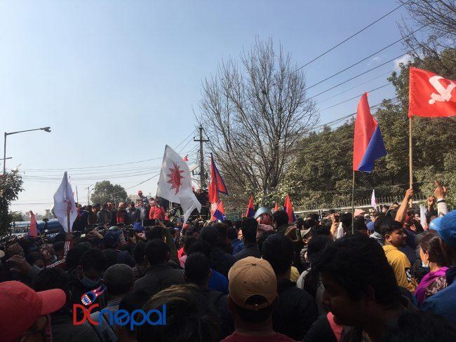 प्रचण्ड–नेपाल समूहको विजयी जुलुसका केही तस्वीरहरु