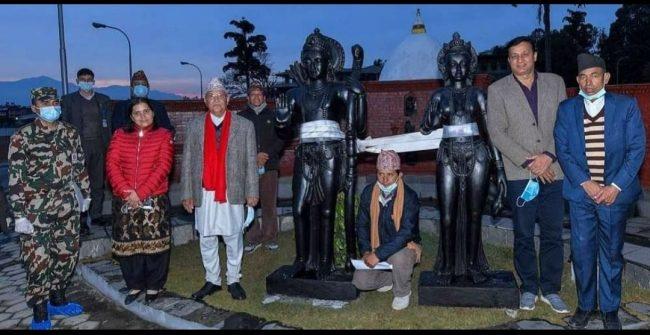 प्रधानमन्त्रीले आफ्नै खर्चमा राम र सीताको मुर्ति बनाउन लगाए, माडीमा अयोध्यापुरी बन्ने