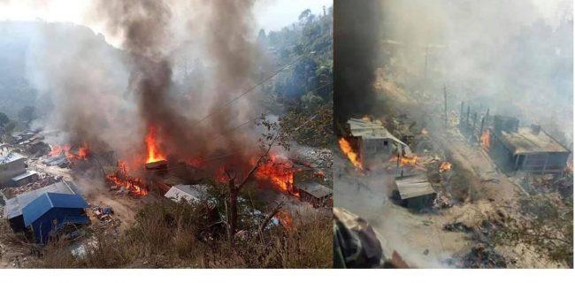 ताप्लेजुङको दोभान बजारमा भीषण आगलागी, ४० घर जलेर नष्ट