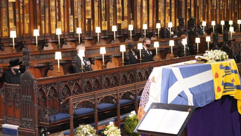 प्रिन्स फिलिपको अन्तिम संस्कार सम्पन्न, ३० जनामात्र सहभागी