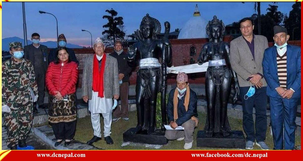 राम नवमीका दिन माडीको अयोध्यापुरीमा राम सीताको मूर्ति प्रतिष्ठापन गरिँदै