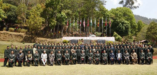 सैनिक कमाण्ड तथा स्टाफ तालीममा नेपालसहित ११ देशका सैनिक अधिकृत शिक्षार्थी