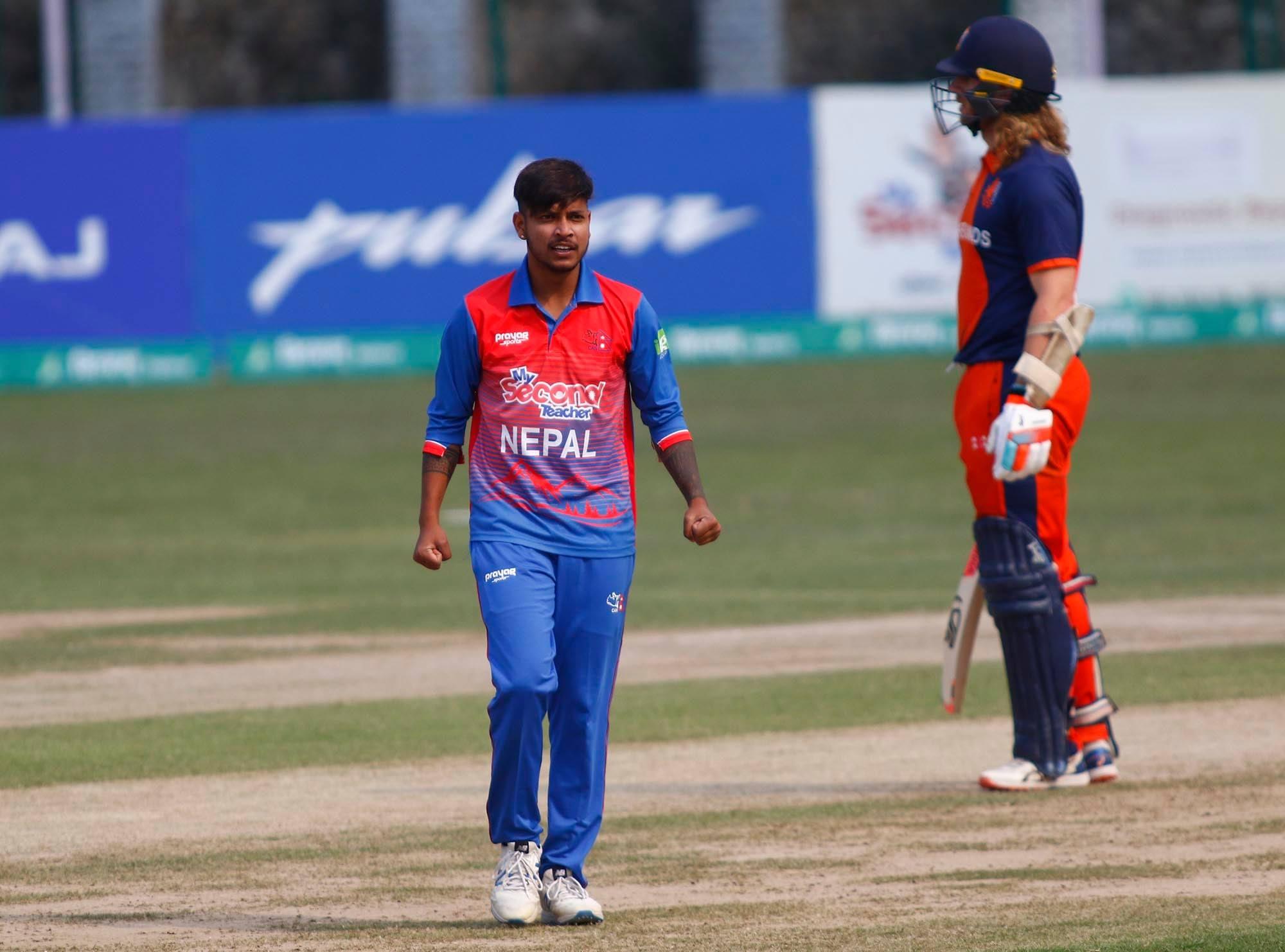 टी–२० क्रिकेटमा सय खेल खेल्ने सन्दीप पहिलो नेपाली खेलाडी