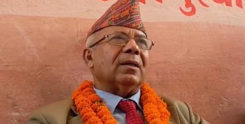 केपी ओलीको दम्भ धरहराको टुप्पोमा छ : माधव नेपाल