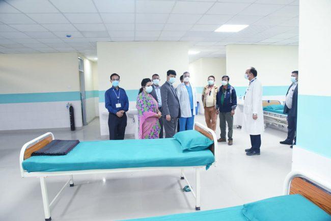 त्रिवि शिक्षण अस्पतालको नयाँ भवनमा कोभिड उपचार कक्ष बनाइँदै