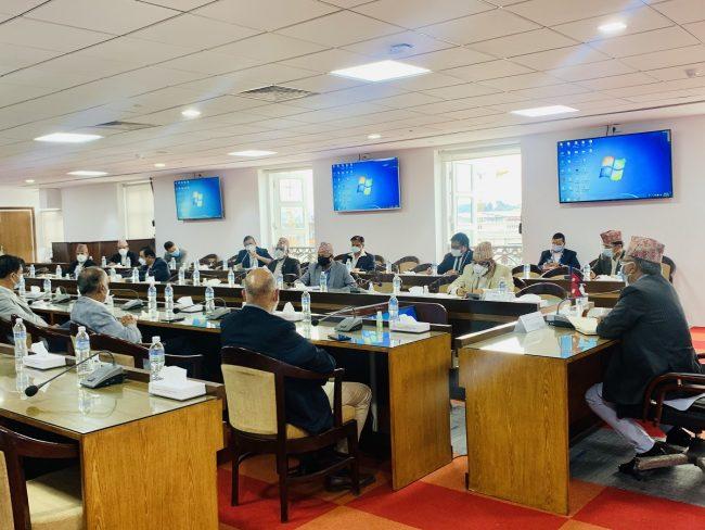 अक्सिजनको आपूर्ति सहज बनाउन उपप्रधानमन्त्री पोखरेलद्वारा निजी क्षेत्रसँग संवाद