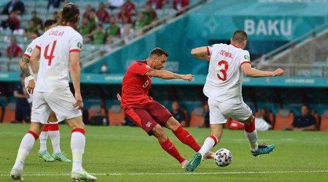 युरोकप फुटबलमा टर्कीविरुद्ध स्विजरल्याण्डको अग्रता
