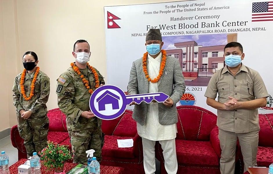 धनगढीकाे पहिलो रक्तसञ्चार सेवा केन्द्र हस्तान्तरण