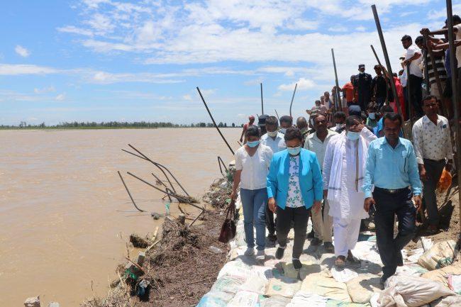 कमला नदीको कटान नियन्त्रणका लागि दीर्घकालीन योजना बनाइने