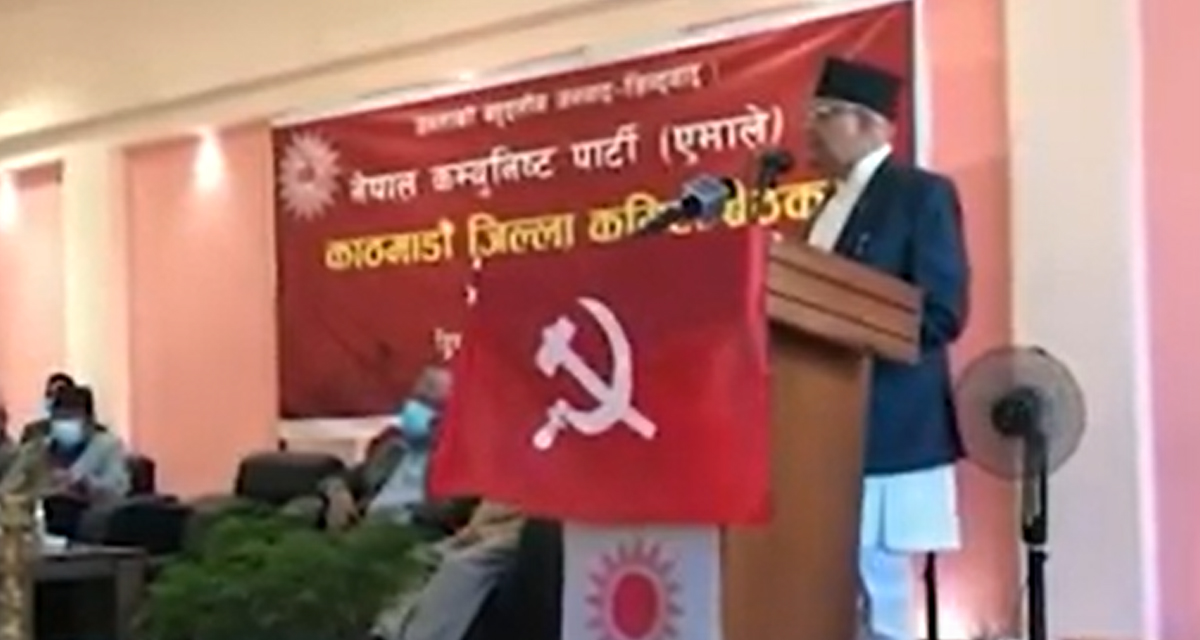 माधव नेपाल जस्ता देशद्रोहीलाई कुनै ठाउँ छैन : ओली