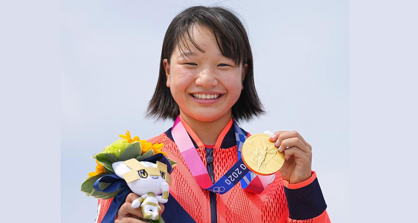 १३ वर्षकी खेलाडीले ओलम्पिकमा स्वर्ण पदक जितेर इतिहास बनाइन्