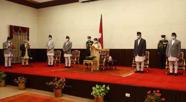 गण्डकी र लुम्बिनीका प्रदेश प्रमुखद्वारा शपथ ग्रहण