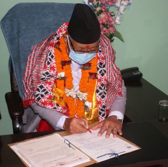 आफ्नो जिम्मेवारी इमान्दारिताका साथ पूरा गर्छुः प्रदेश प्रमुख गुरुङ