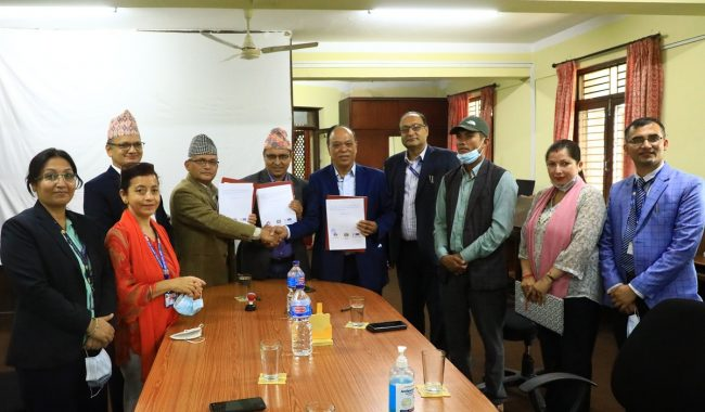 राष्ट्रिय वाणिज्य बैक, राष्ट्रिय युवा परिषद् र चैनपुर नगरपालिकाबीच सम्झौता