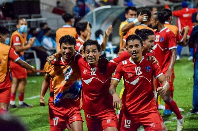 साफ फुटबल : इतिहास कोर्ने दाउमा नेपाल
