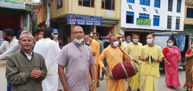 बंगलादेशमा हिन्दु समुदायमाथि भएको आक्रमणविरुद्ध बागलुङमा प्रदर्शन