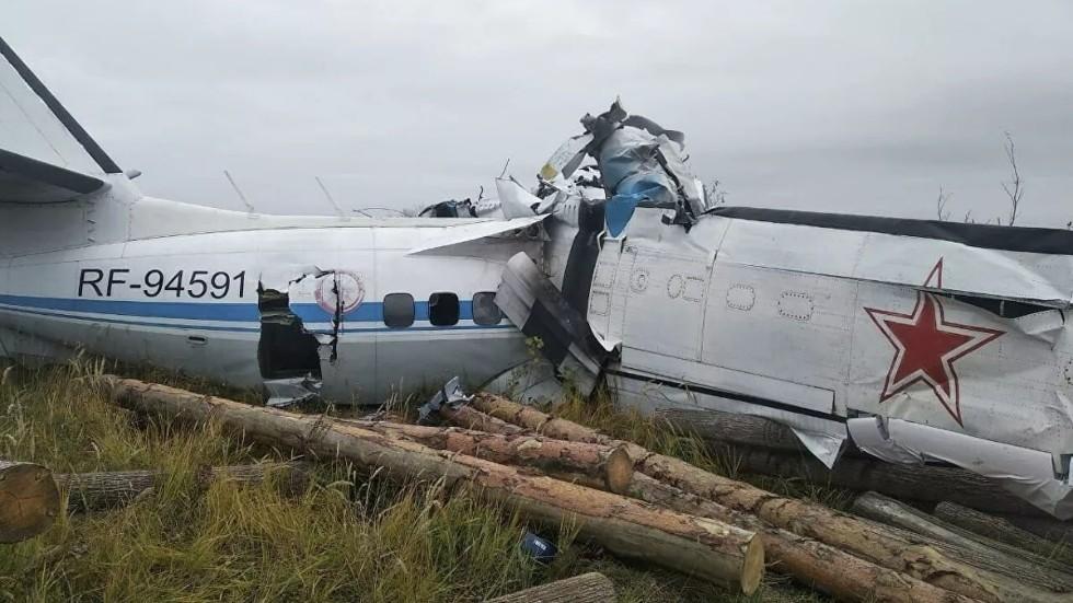 रुसमा यात्रुवाहक विमान दुर्घटना हुँदा १६ जनाको मृत्यु
