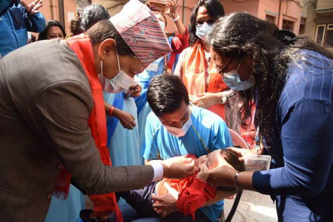 काठमाडाैं महानगरपालिकाले ८० हजार बालबालिकालाई भिटामिन 'ए' र जुकाको औषधि खुवाउने