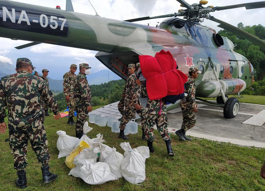 नेपाली सेना उद्धार कार्यमा निरन्तर