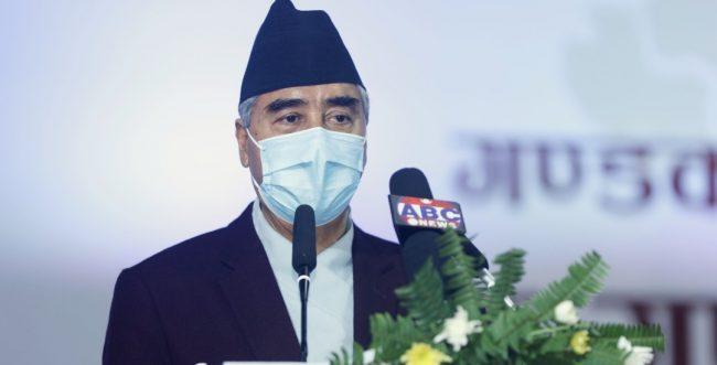 नेपाली फुटबल टिमलाई प्रधानमन्त्री देउवाको बधाई