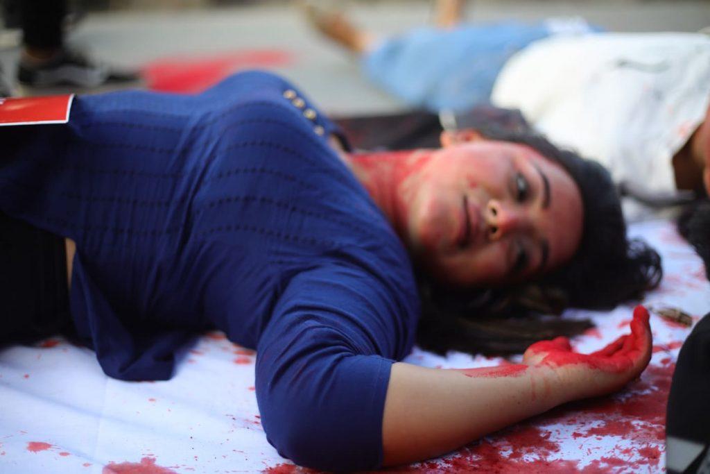 प्याडमा लगाइएको करप्रति सांकेतिक विरोध (फोटोफिचर)